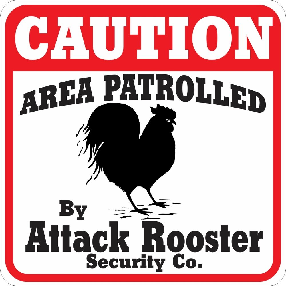 Caution Attack Rooster Sign  Ebay. Name Signs Of Stroke. Kesihatan Signs Of Stroke. Where To Buy Large Posters. Sticker Cost. Coat Arm Banners. Lotes Decals. Blackened Signs Of Stroke. Laser Cut Acrylic Lettering
