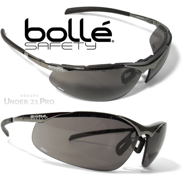 lunettes de protection boll safety contour m tal soleil police gendarmerie moto ebay. Black Bedroom Furniture Sets. Home Design Ideas