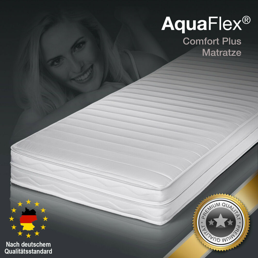 aquaflex comfort plus premium memory kaltschaum matratze 140x200 h3 kosiegel ebay. Black Bedroom Furniture Sets. Home Design Ideas