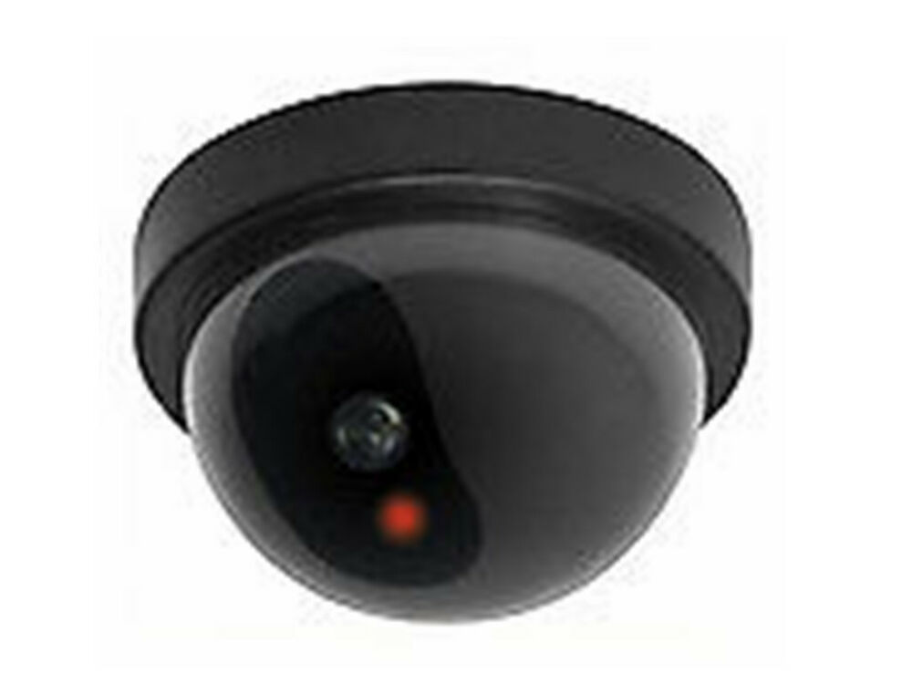 Fake CCTV Dome Camera - Flashing red LED Light. Ceiling or wall mounted eBay