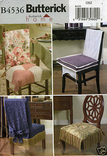 Home Decor Chair Covers Sewing Pattern Butterick 4536 Ebay