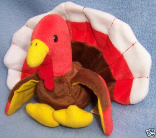1997 thanksgiving beanie baby ty plush turkey 6x8 cute ebay. Black Bedroom Furniture Sets. Home Design Ideas
