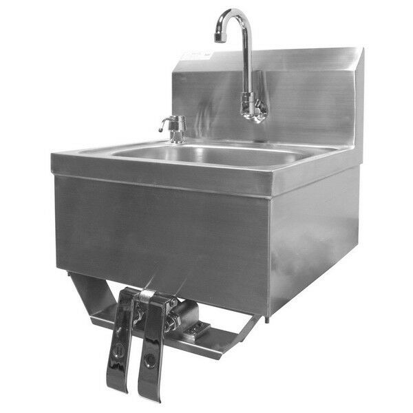 Hand Sink W Knee Operated Valve S S 16 Quot X15 Quot Hs 1615kg