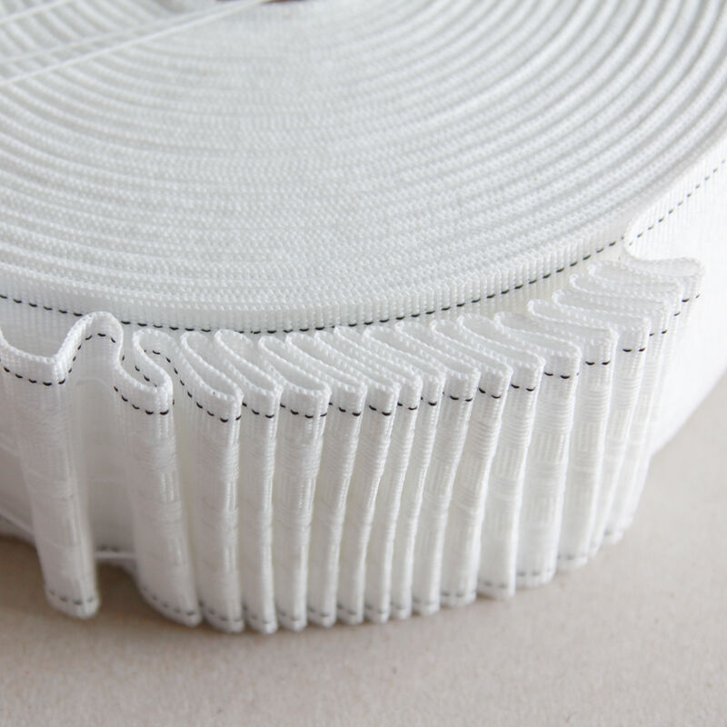 Pencil pleat curtain tape 3 inch 50m roll ebay for Roller pleat curtains