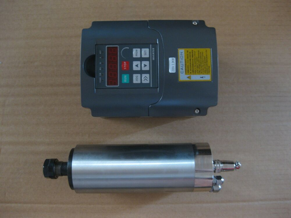 A Water Cooled Spindle Motor With A Vfd Inverter Controller As A Set Ebay