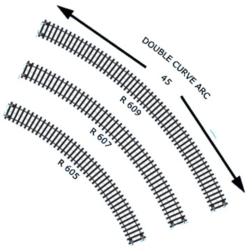 hornby double curve 3rd radius track r609