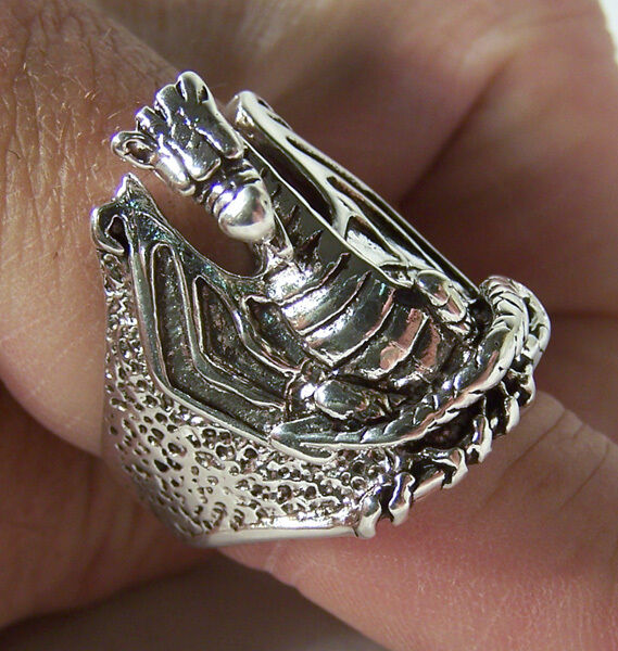 biker rings br137 heavy jewelry dragons ring