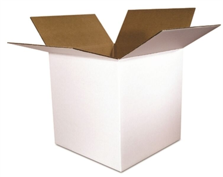 12x12x12 White Corrugated Packing Shipping Boxes 25 New