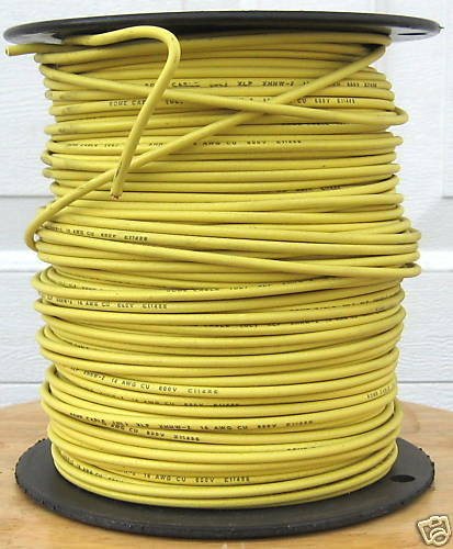 Stranded Copper Wire : Xhhw ft awg stranded copper wire yellow ebay