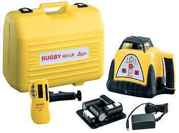 leica rugby 100 rotating laser level package 6003496 | ebay