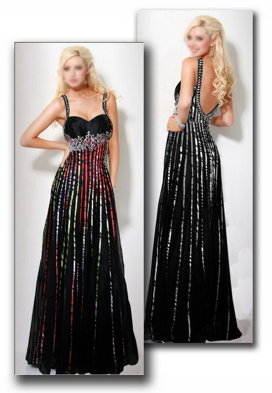 Step Out In Style Black Beaded Formal Prom Evening Long