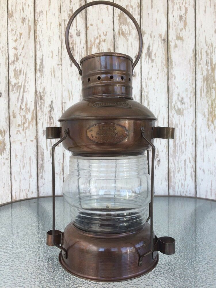 Iron Ship Lantern ~ Antique Finish ~ Nautical Maritime Oil ...