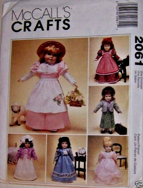 """... !! McCall's 2061 Victorian Clothes for 18"""" Doll Pattern 