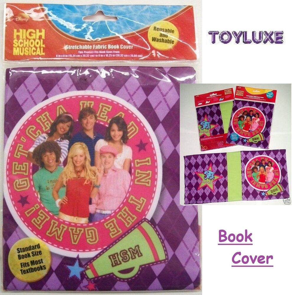 Book Cover School Supplies : Disney high school musical stretch cloth book cover fabric