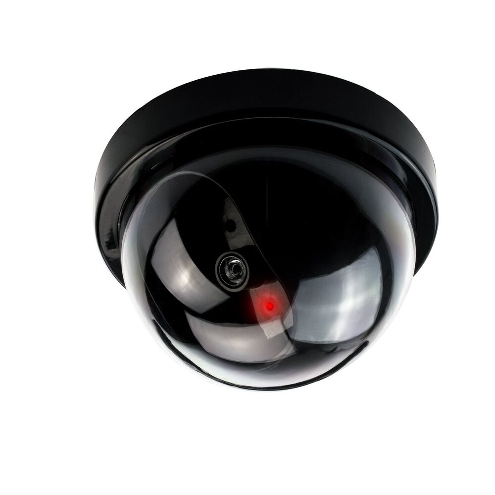 Dummy Cctv Dome Camera Red Led Light Ceiling Or Wall