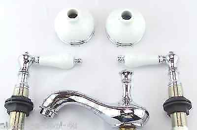 Andre Collection Polished Chrome With White Porcelain Handles ...