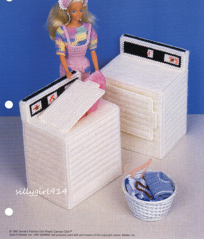 Washer Dryer Plastic Canvas Pattern Pattern Only Fits Barbie Fashion Doll Ebay