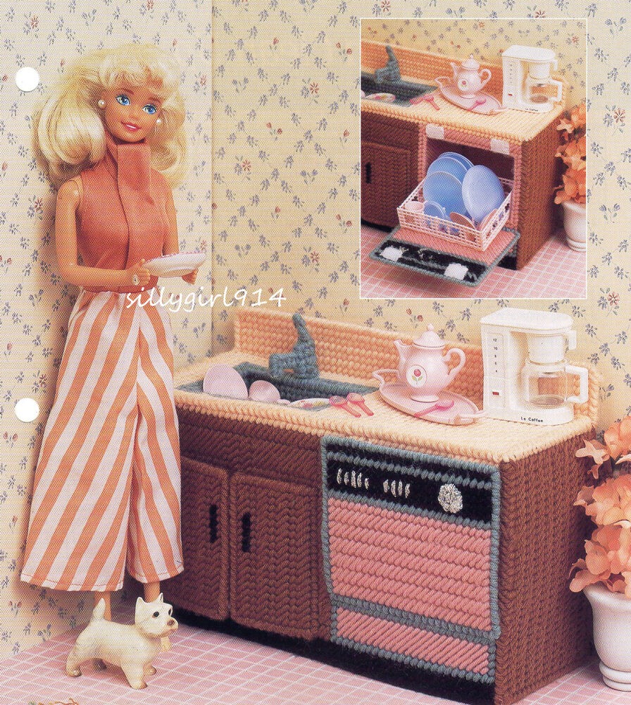 Dishwasher Sink Plastic Canvas Pattern Only For Barbie