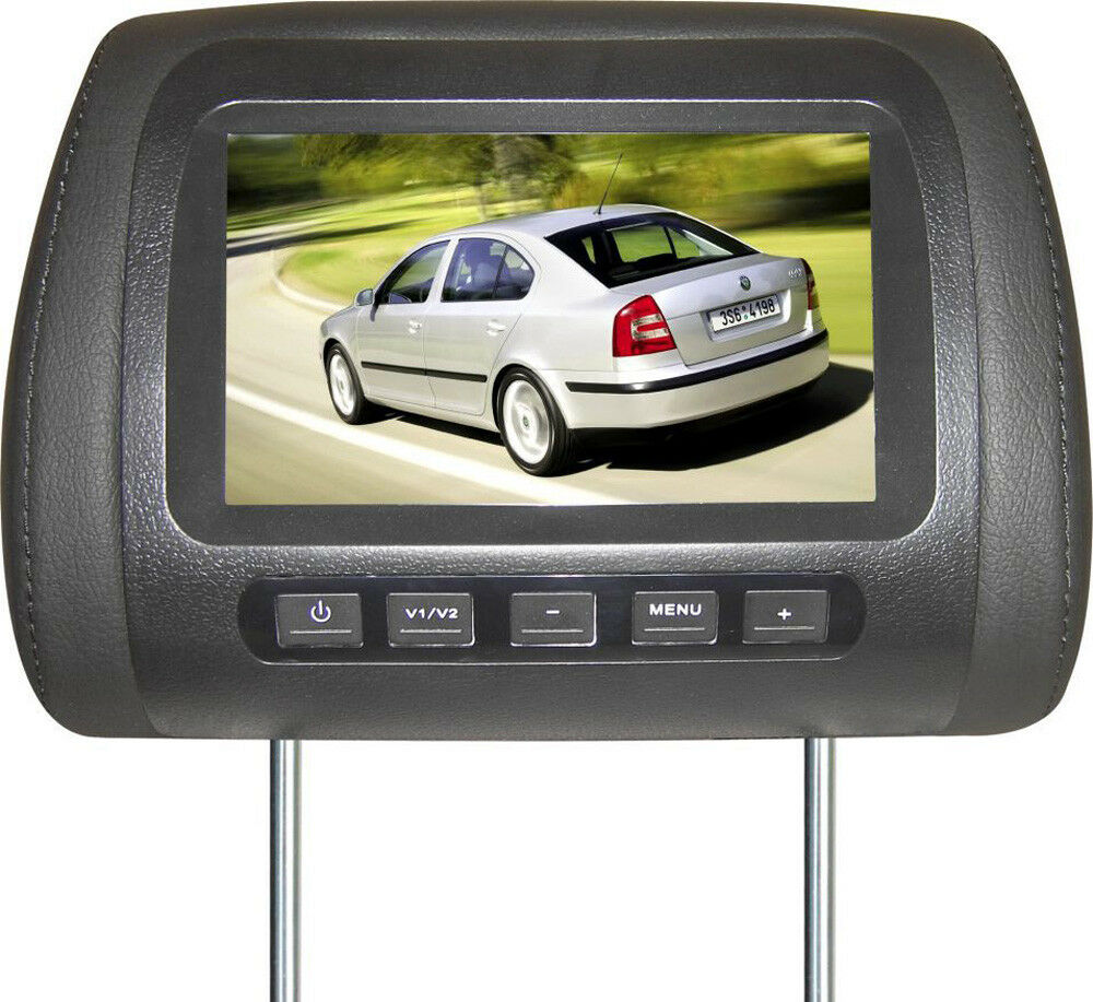 17 8 cm lcd tft monitor kopfst tze 7 f r dvd dvb t auto pkw nachr sten ebay. Black Bedroom Furniture Sets. Home Design Ideas