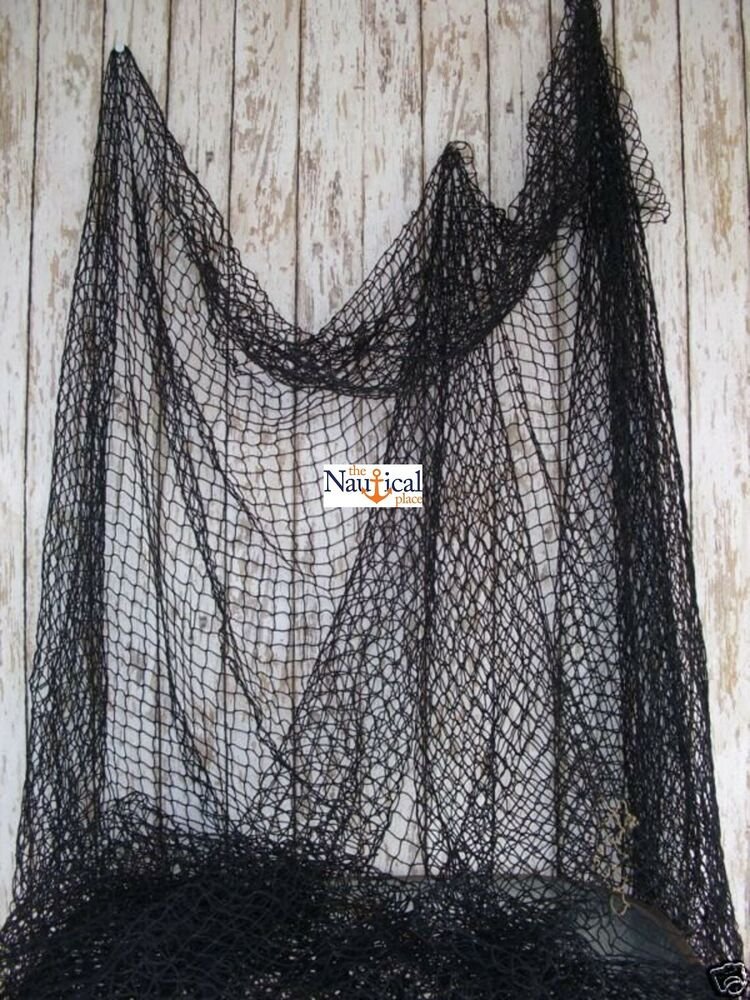 Authentic Fishing Net ~ 10'x10' BLACK ~ Vintage Fish ...