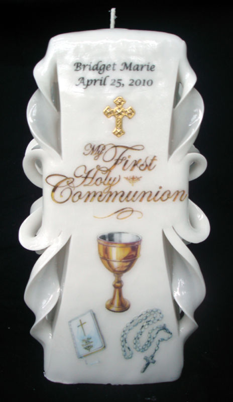 custom made first holy communion gift candle