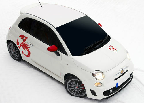 4 x fiat abarth scorpion stickers fiat 500 punto 001 ebay. Black Bedroom Furniture Sets. Home Design Ideas