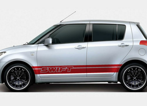 suzuki swift side racing stripe stickers 004 ebay. Black Bedroom Furniture Sets. Home Design Ideas