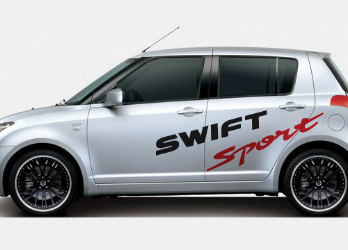 suzuki swift sport large side stickers ebay. Black Bedroom Furniture Sets. Home Design Ideas