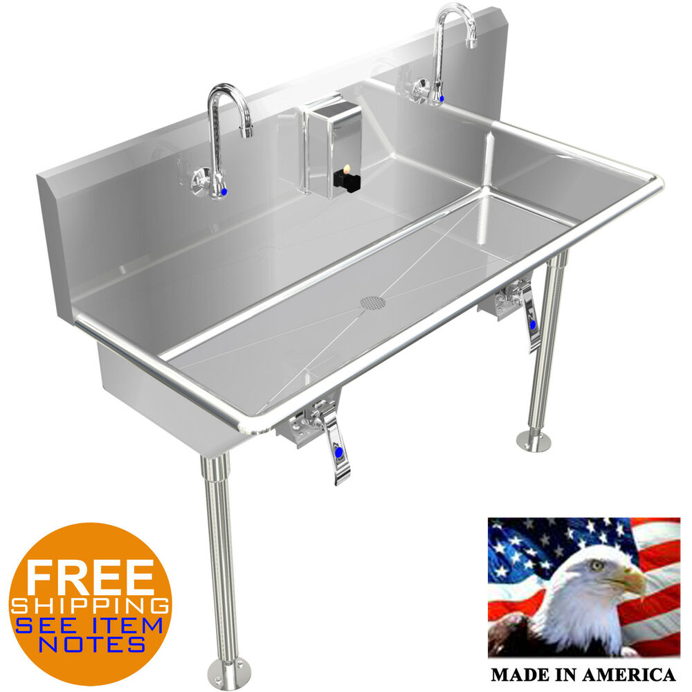 Hand Sink 42 Quot 2 Users Multi Station Hands Free With Legs