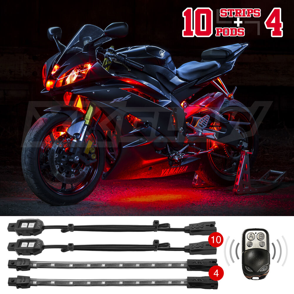Light Controller For Motorcycles: 14pc LED Remote Control Motorcycle Car ATV Boat Accent