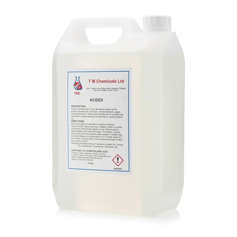 Acid descaler rust remover concrete floor cleaner ebay for Hydrochloric acid for cleaning concrete
