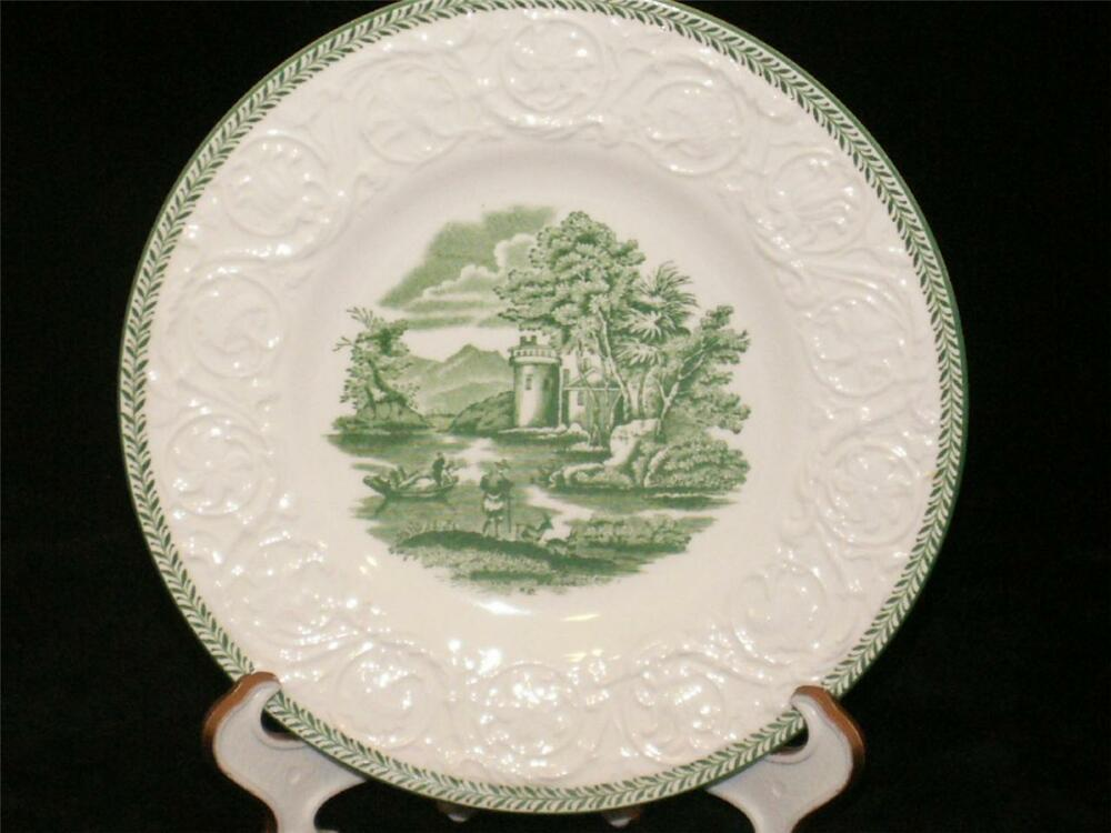 Wedgwood china patrician green torbay dessert bowl ebay for Wedgewood designs