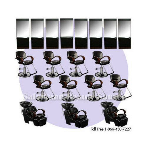 Salon equipment package beauty shampoo styling chairs ebay for Beauty spa equipment