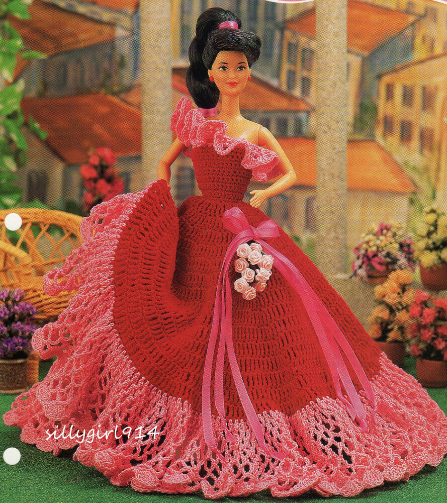 """""""BEAUTIFUL BALL GOWN""""~Crochet PATTERN ONLY Fits BARBIE"""