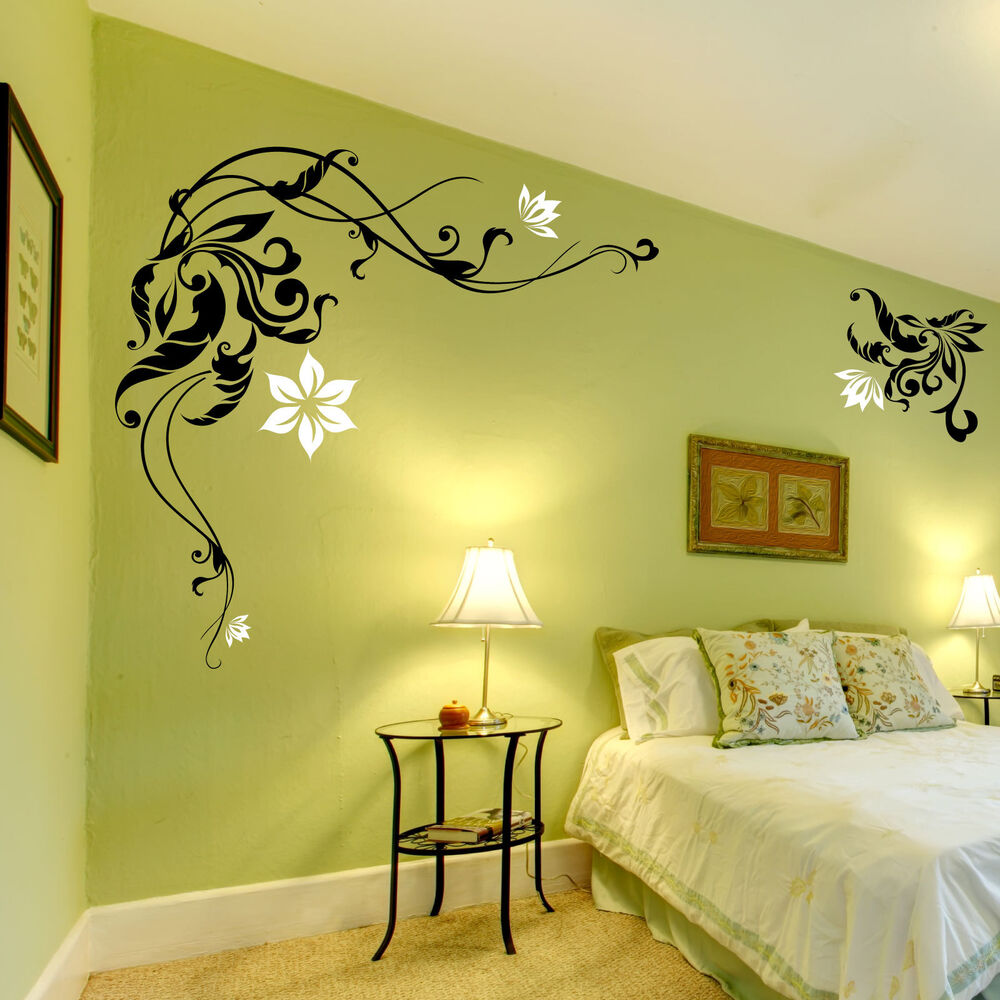Large Flower Wall Stickers / Wall Decals / Wall Graphic  eBay