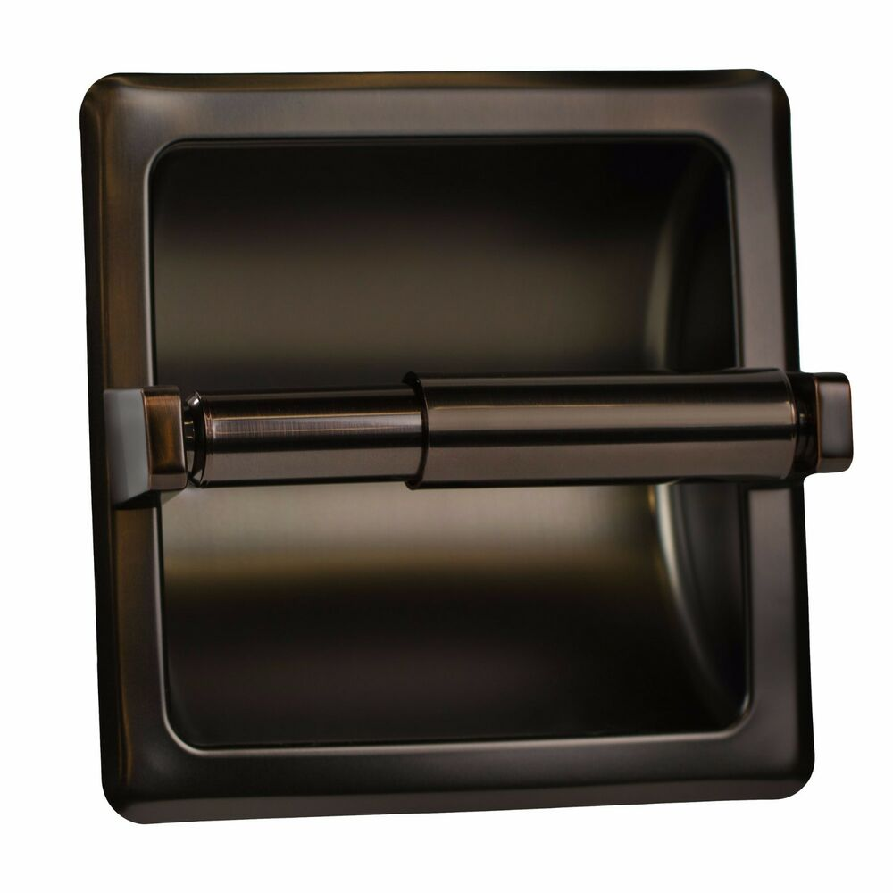 Oil rubbed bronze recessed toilet paper holder ebay - Recessed toilet paper dispenser ...