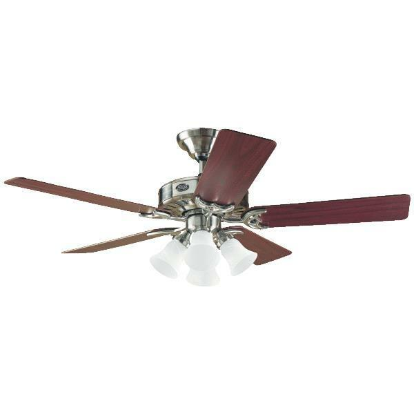 52 Inch 5 Blade Brushed Nickel Ceiling Fan With Light Ebay