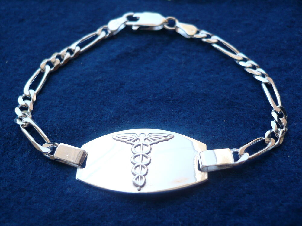 925 Sterling Silver Men S Women S Medical Alert Id