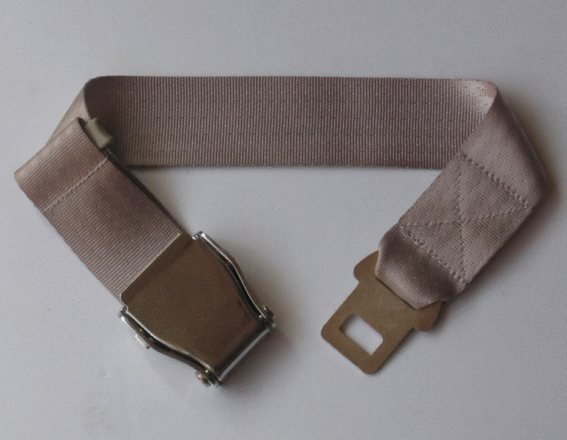 Airplane Airline Seat Belt Extension Extender In Beige