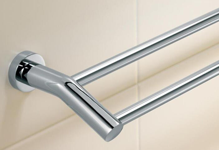 Bathroom Double Towel Rail Bar 900mm Full Chrome Incl Gst