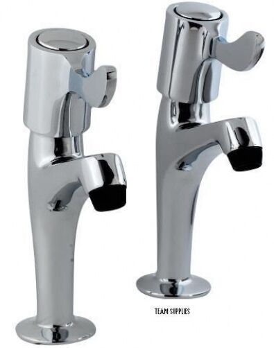 kitchen sink pillar taps kitchen sink pillar taps lever type cp pair chrome new ebay 5889