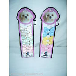 PET BOWS with BARRETTES - 6 PACK (New)