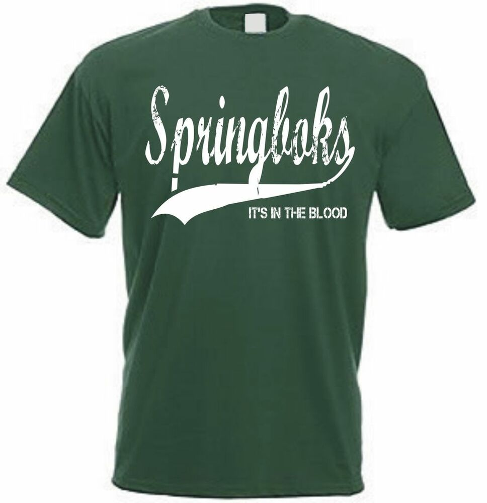 South Africa Springbok Retro Style Rugby T Shirt Ebay