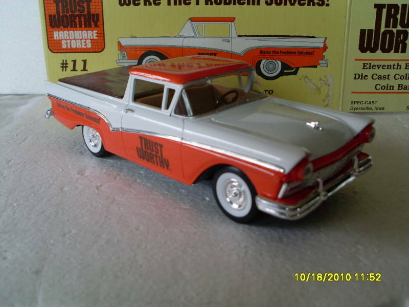 nib 11 trust worthy 1957 ford ranchero 1 25 die cast ebay. Black Bedroom Furniture Sets. Home Design Ideas