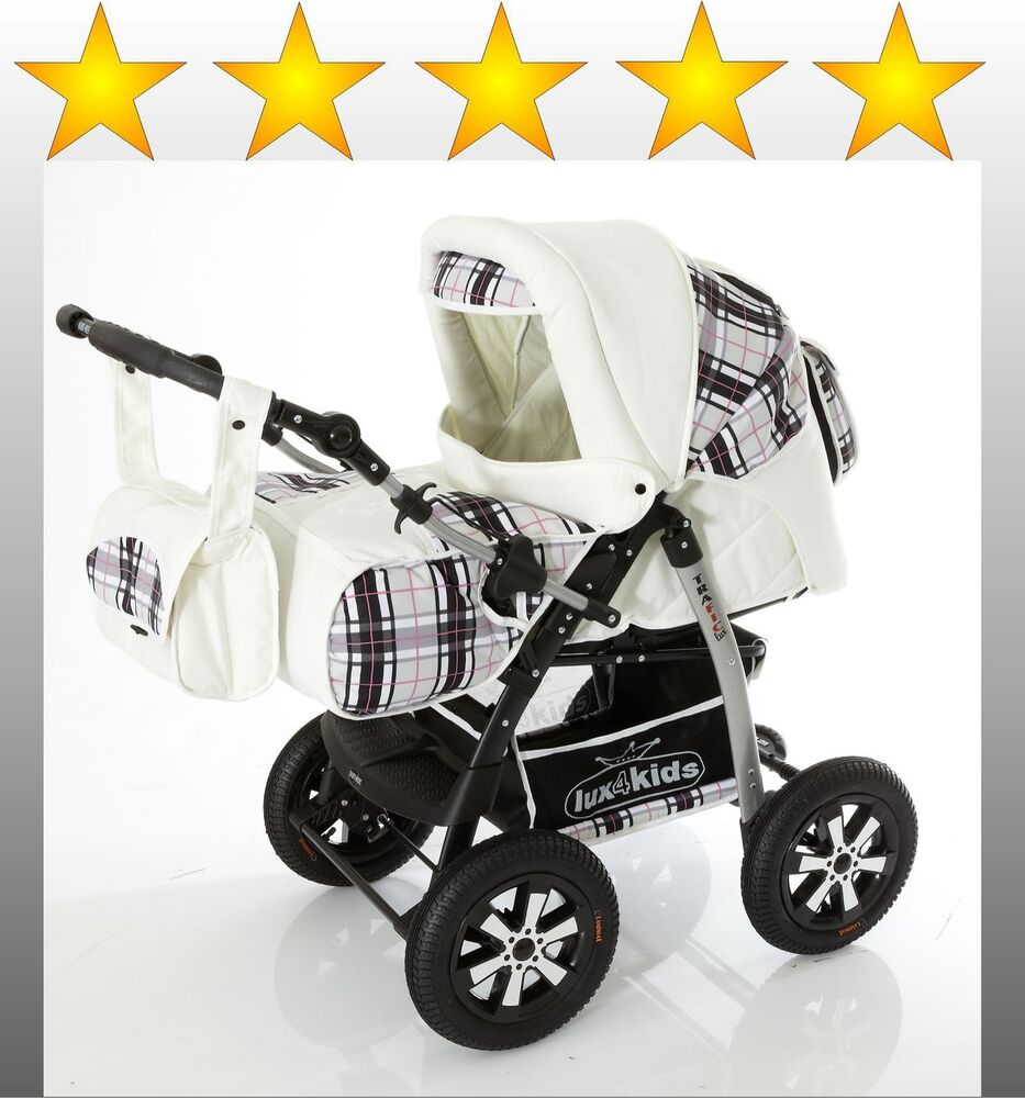 lux4kids trafic lux kombi kinderwagen sonderfelgen ebay. Black Bedroom Furniture Sets. Home Design Ideas