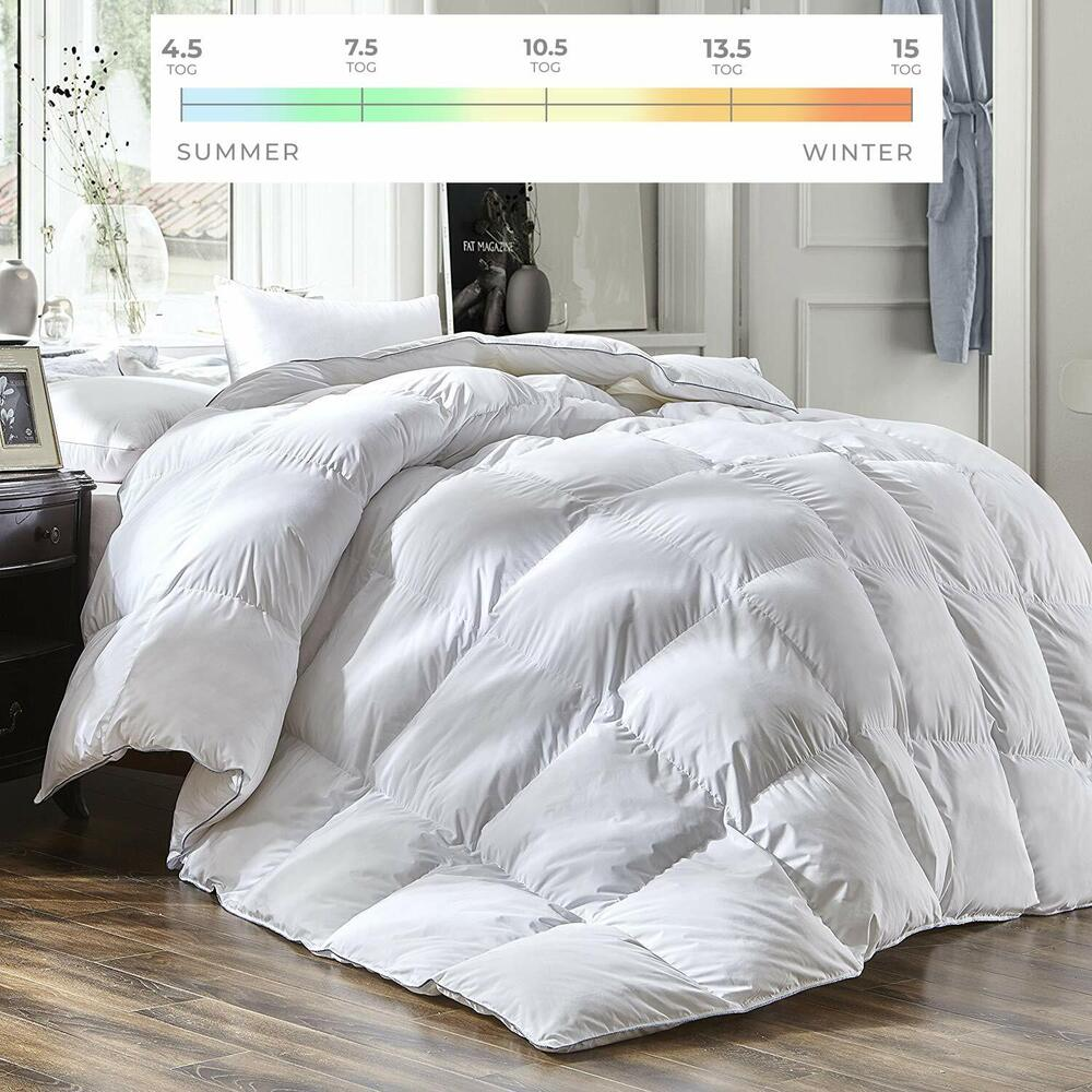 goose feather and down duvet quilt 39 40 down 39 ebay. Black Bedroom Furniture Sets. Home Design Ideas