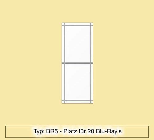 blu ray regal aus plexiglas f r 20 blu ray 39 s br5 ebay. Black Bedroom Furniture Sets. Home Design Ideas