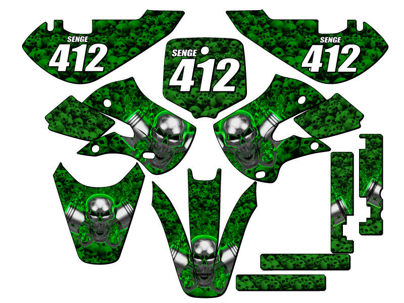 All years kx 65 graphics kit kawasaki kx65 deco decals for Stickers murs deco