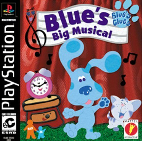 Blue's Clues Blue's Big Musical PS1 Complete 74299280627 ...