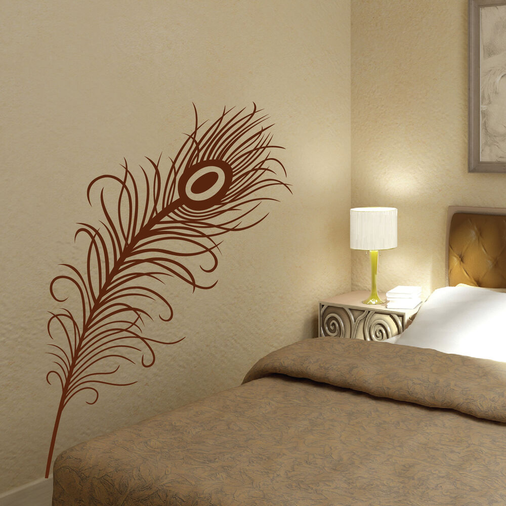 Peacock Feather Vinyl Art Wall Stickers Wall Decals Ebay